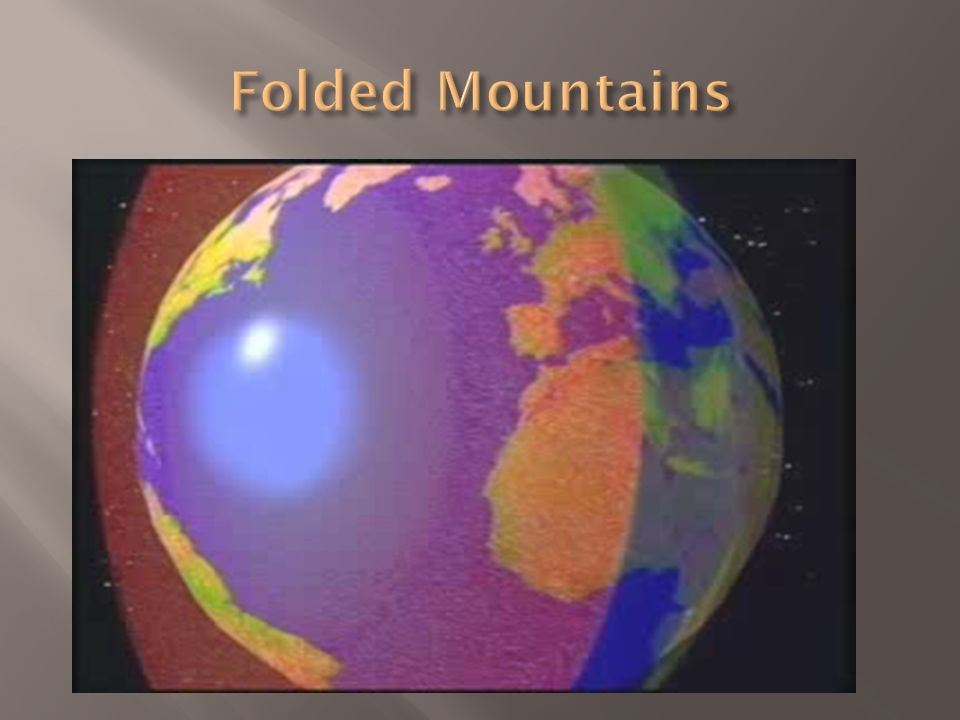 Plate Tectonics and Mountain Building.  Three most common types ...