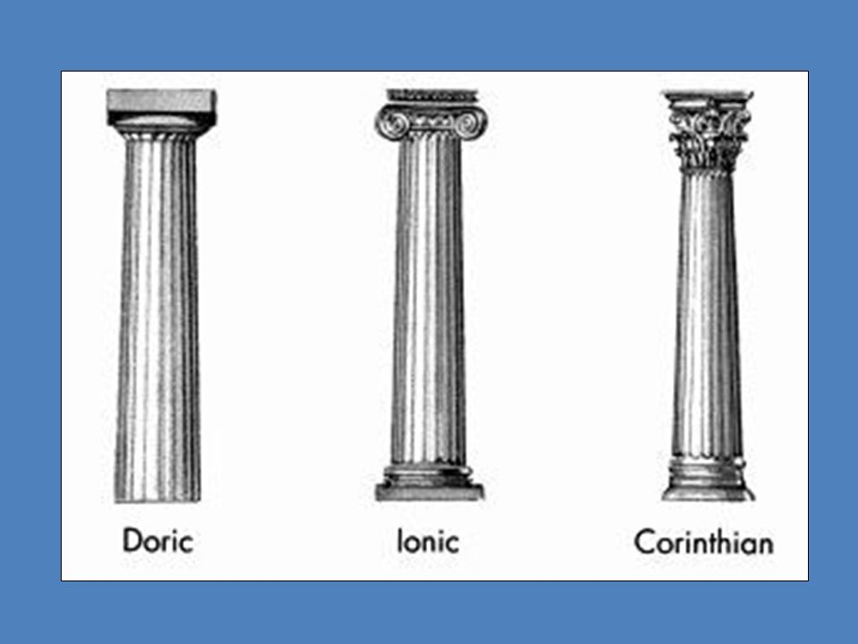 4 Doric Columns Are The Most Simple Of Three Types There Main Parts Column Capitol Shaft And Frieze