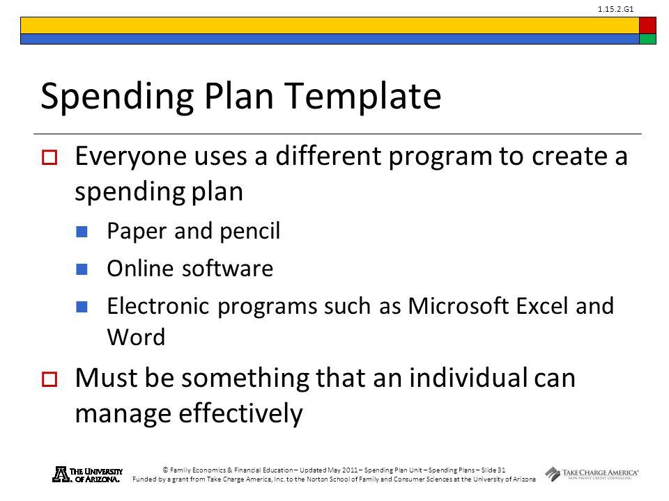spending plan template