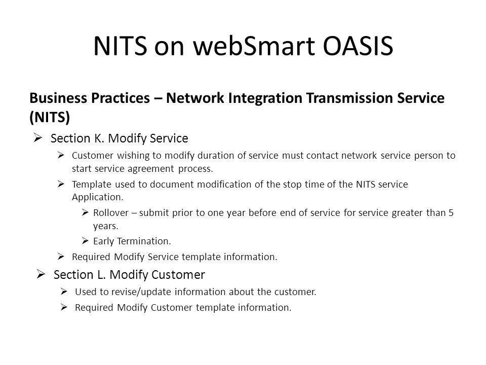 Nits On Websmart Oasis Nits On Websmart Oasis Agenda Company And