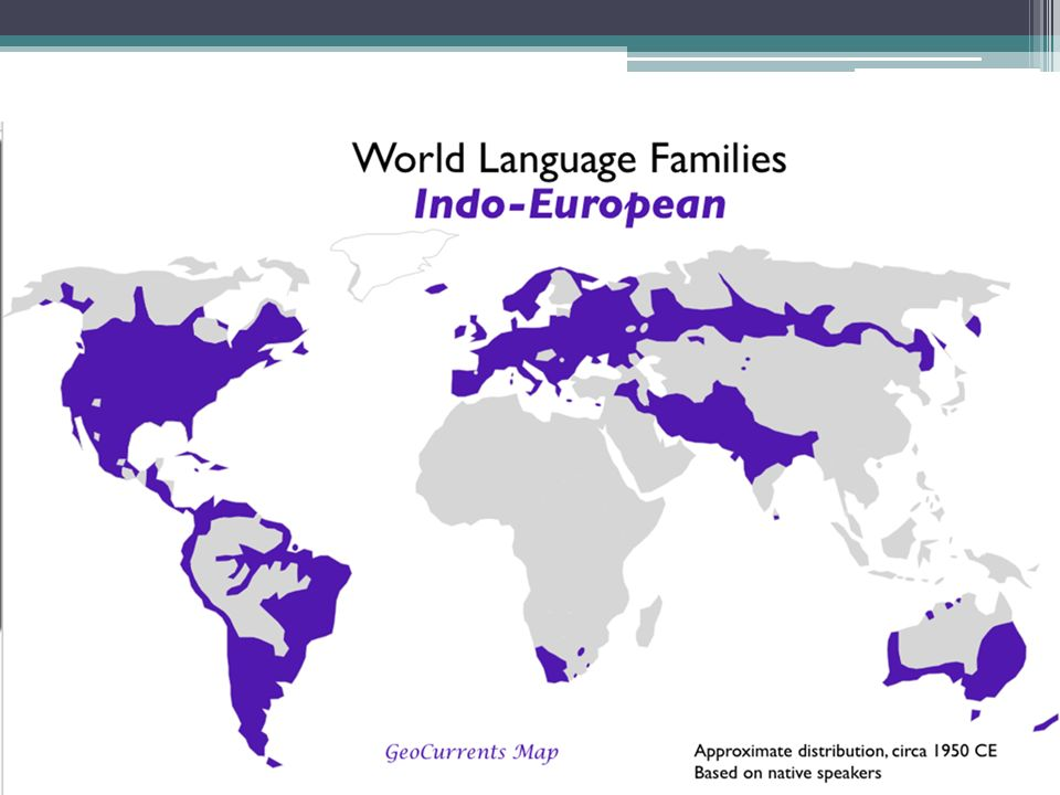 Language Families A Group Of Languages Descended From A Single - Top 5 languages in the world