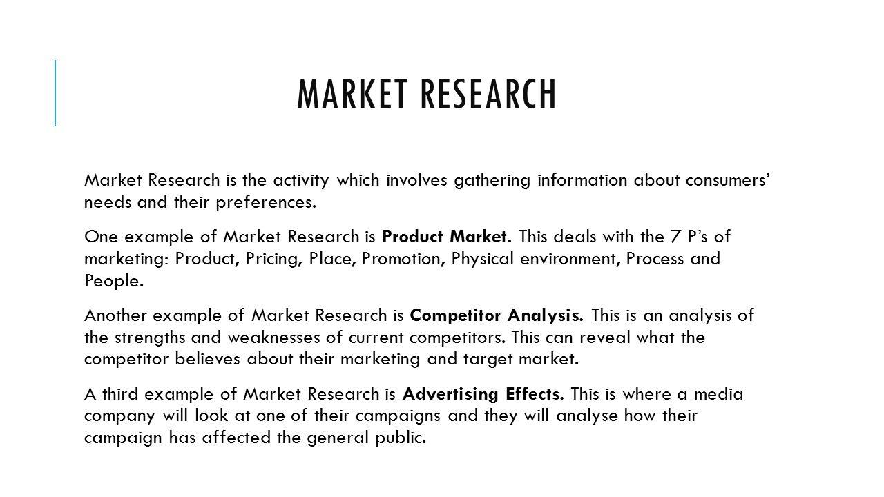 market research brief proposal