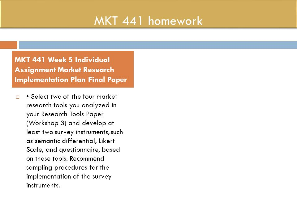 mkt 441 Description mkt 441 week 4 using descriptive statistics in marketing resources: the market research toolbox, ch 11, the market research toolbox, ch 14, and 15-minute oil change data set scenario: an oil change company is looking for ways to increase customer flow and revenue for the business the company leaders have.