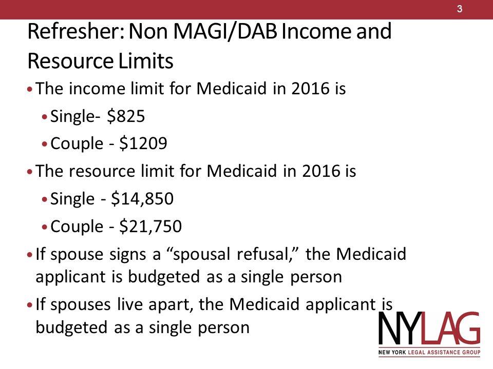 DAB Medicaid: Applications (2016) Borchard Foundation Training ...