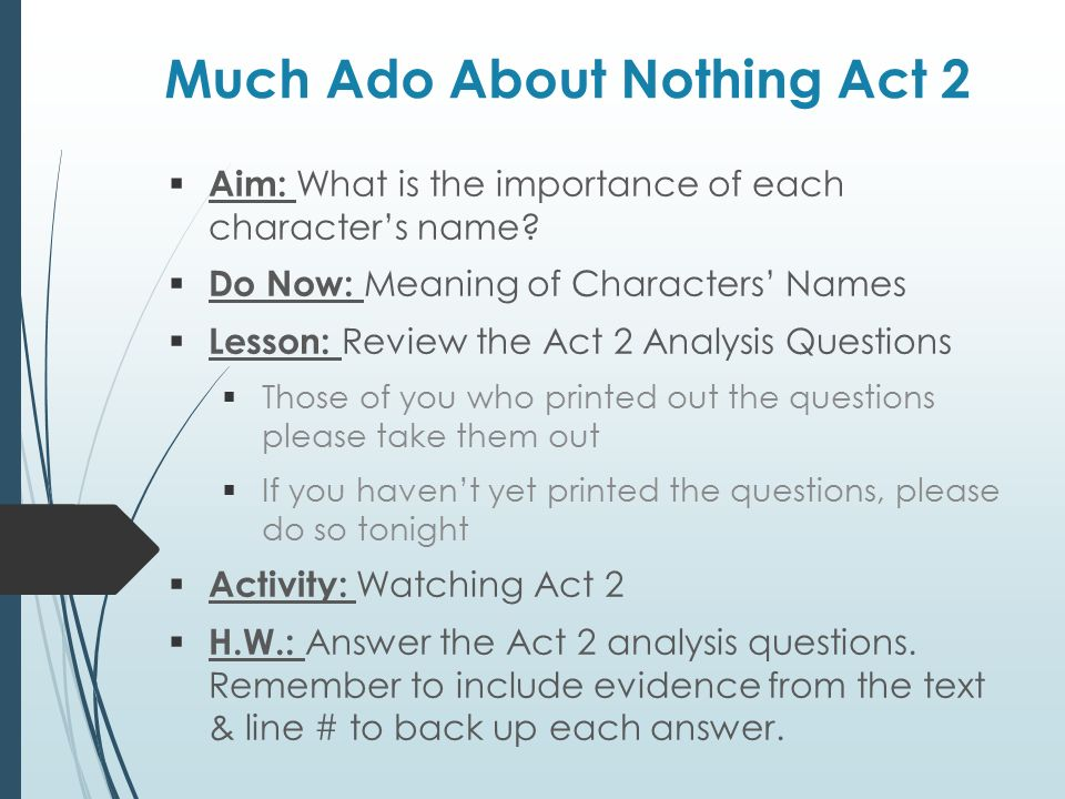 What is the importance of Much Ado About Nothing?