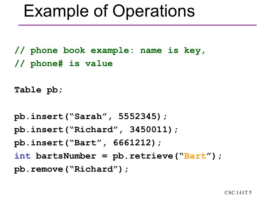 Csc 143T 1 Csc 143 Highlights Of Tables And Hashing [Chapter 11 P