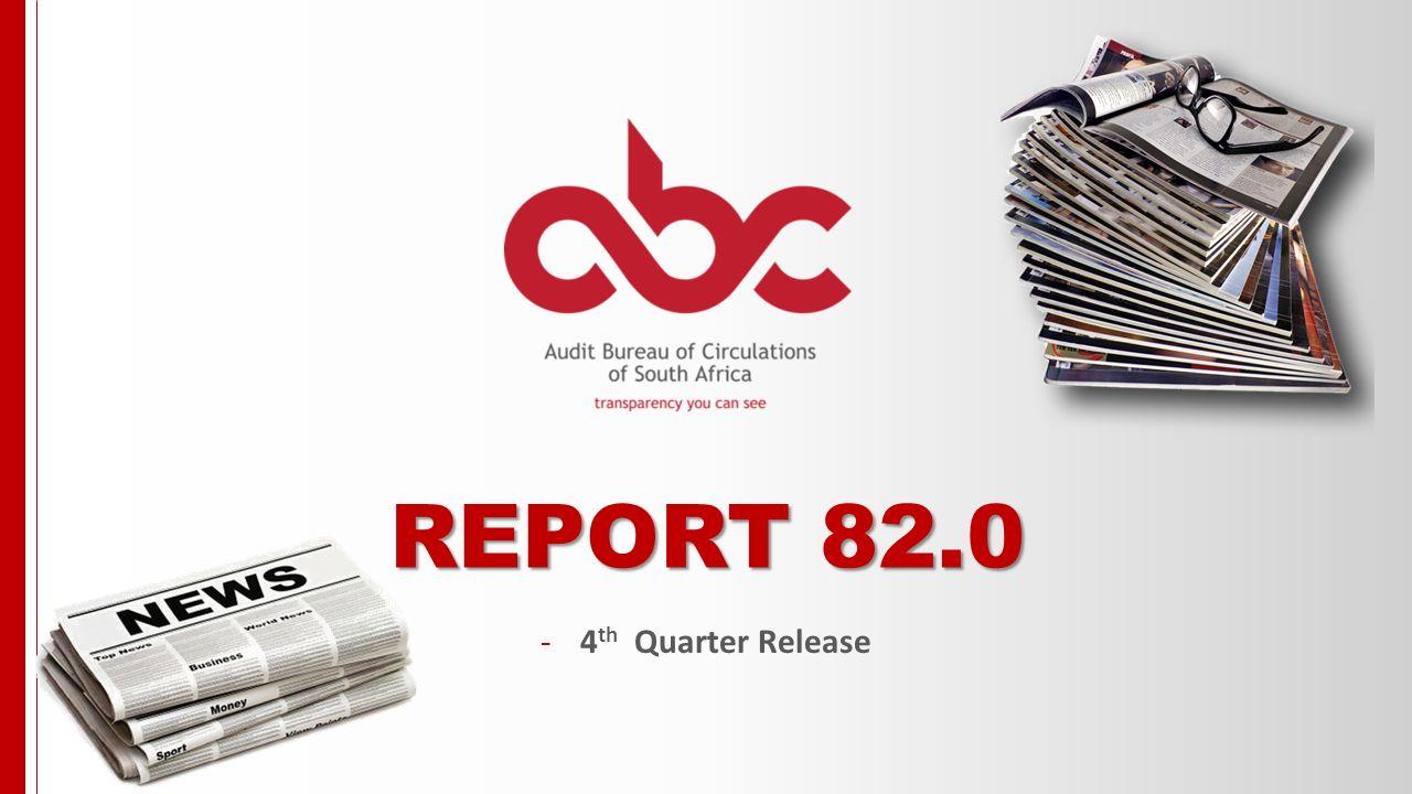 1 REPORT 82.0 -4 th Quarter Release