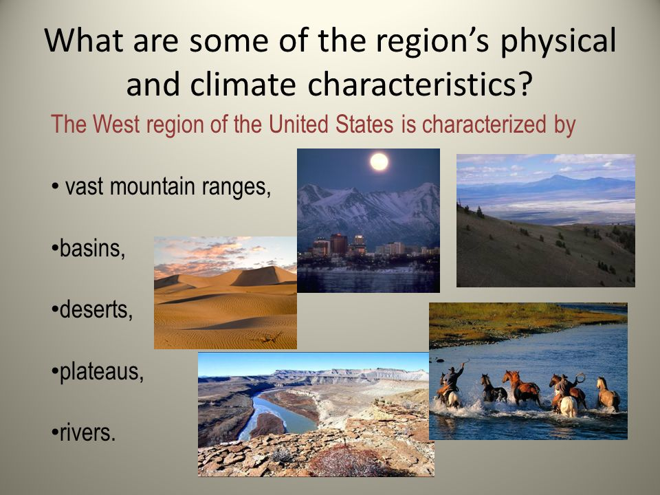 The American West J Stark Location And Key Political Features - Us west region map physical features
