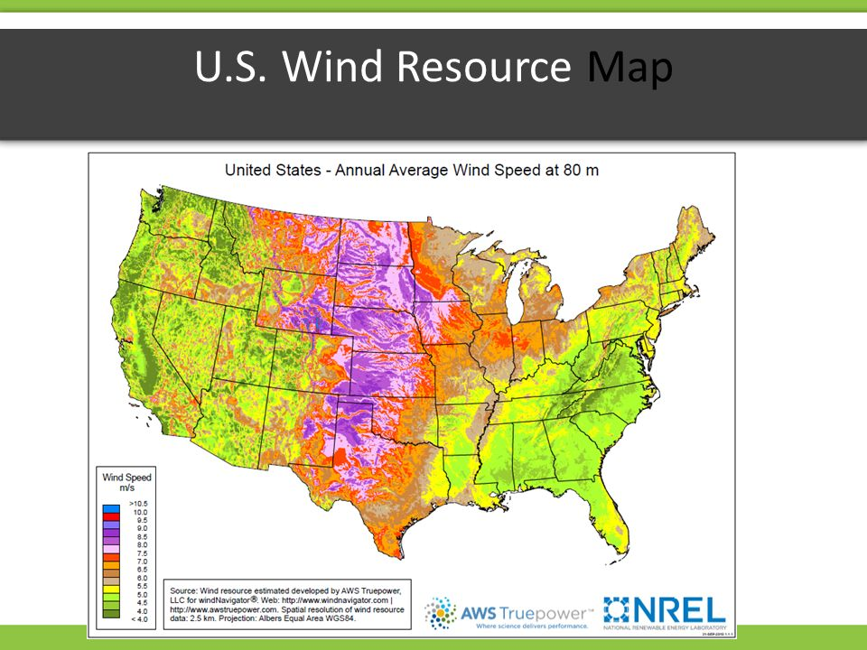 Wind Energy WIND ENERGY What Makes Wind Global Wind Patterns - Us average wind speed map