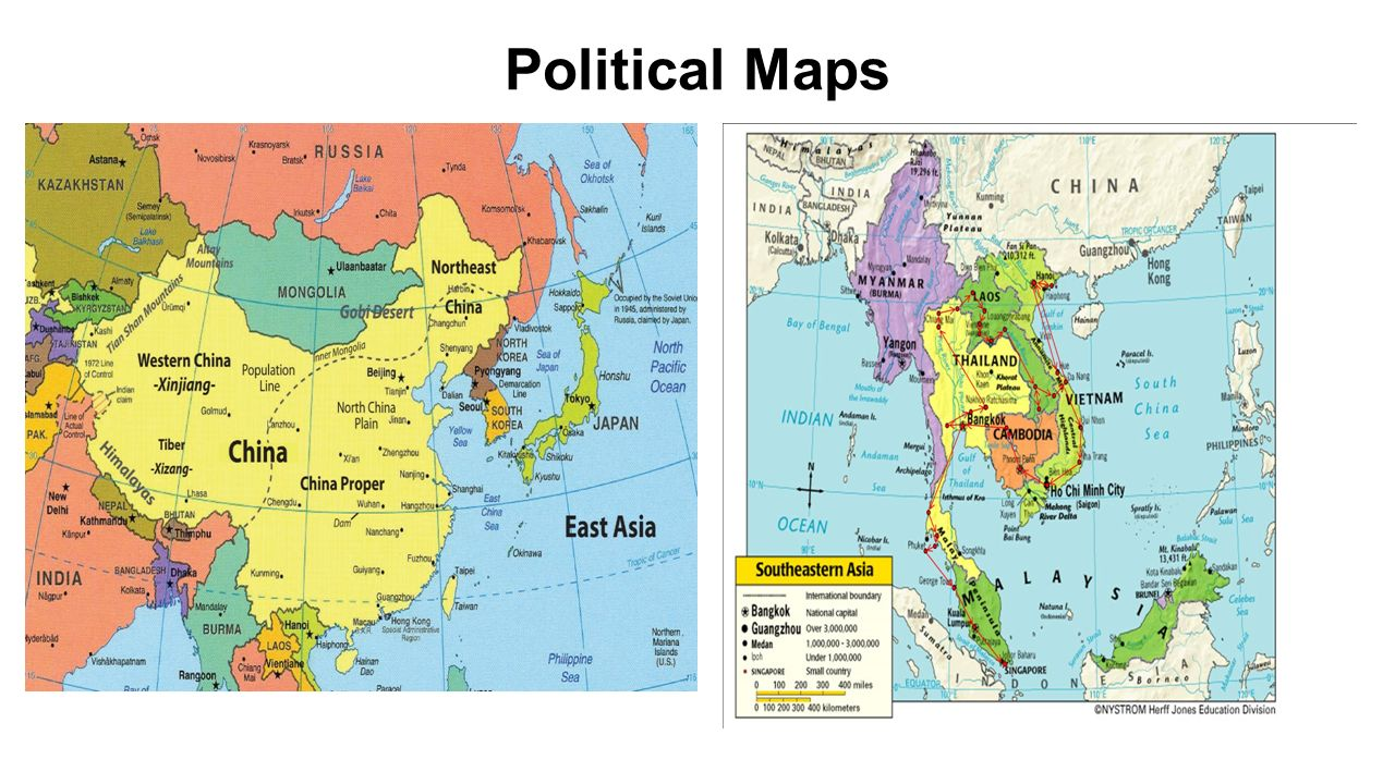 East and Southeast Asia Map Political Maps Physical Maps ppt