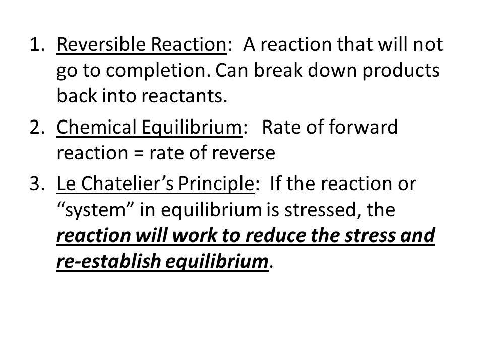 Answers To Worksheet 6 Equilibrium Practice 1versible Reaction