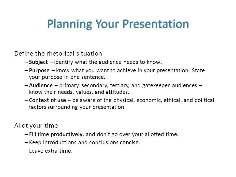 Define presentations