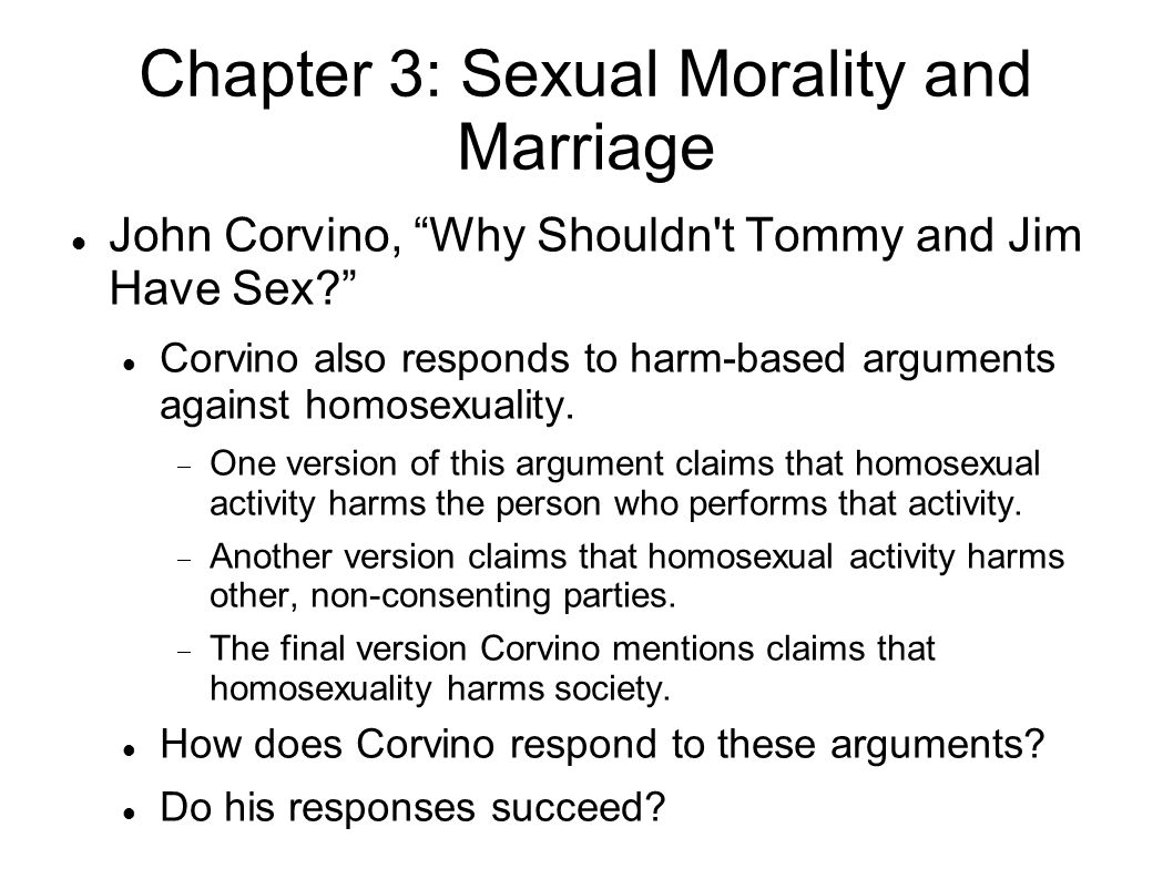 Chapter 3: Sexual Morality and Marriage Thomas A.