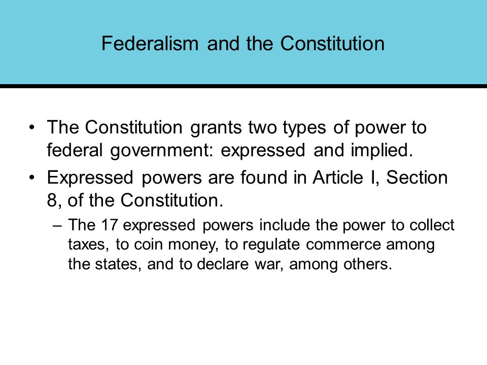 Federalism Chapter 3. Federalism Federalism and the Constitution ...
