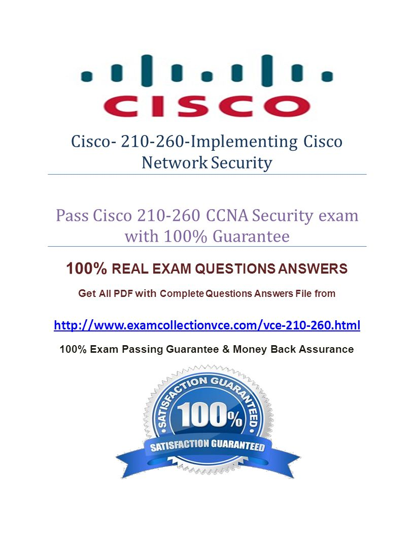 Cisco Implementing Cisco Network Security Pass Cisco CCNA Security ...