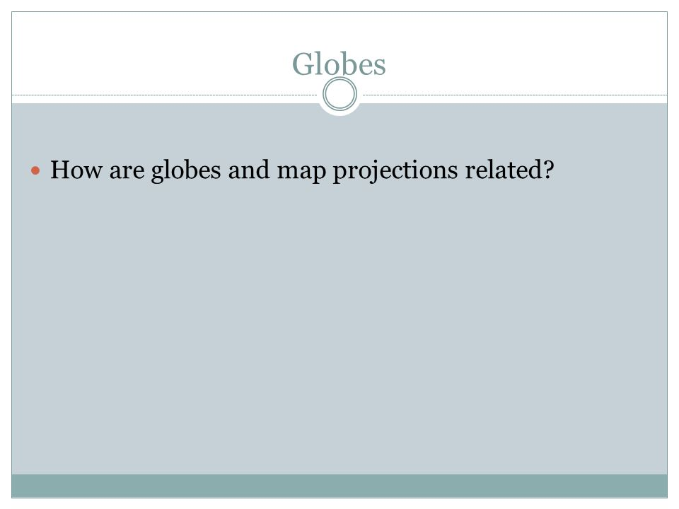 GLOBES PROJECTIONS How Does Geography Help Us Interpret The Past - How the globe and maps help us