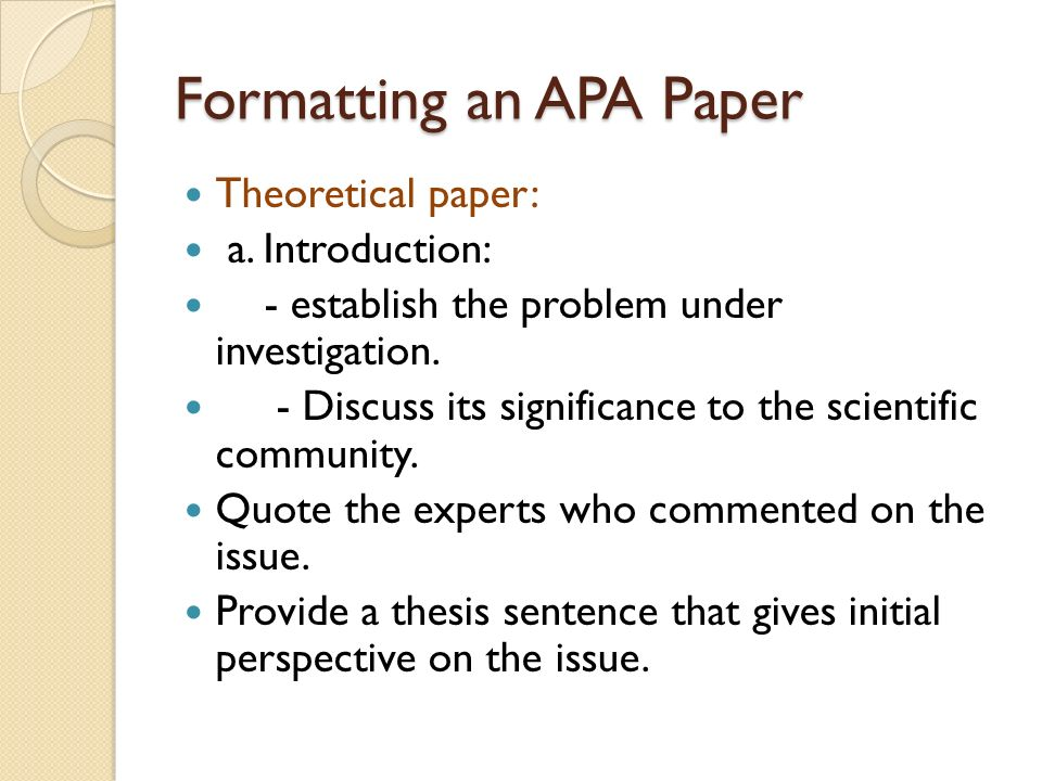 "an apa style paper Best of the apa style blog: 2017 edition each fall we put together a ""best of"" post to highlight blog posts and apastyleorg pages that we paper formatting."