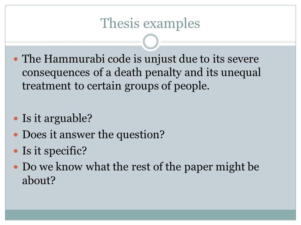 hammurabi s code just or unjust