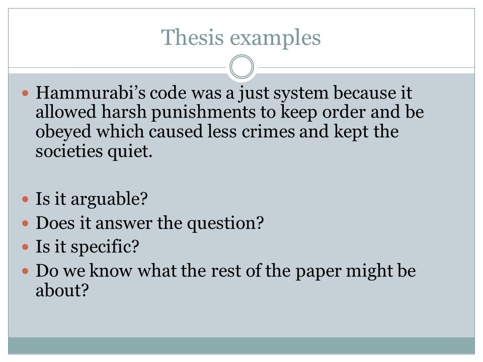 hammurabis code was it just essay