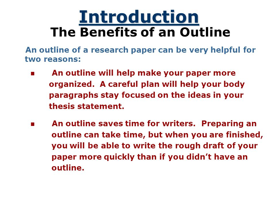 how to make a research paper outline