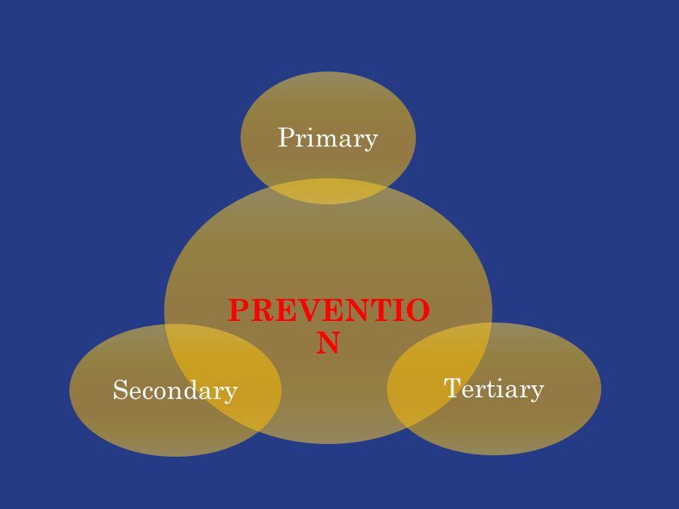 PREVENTIO N PrimaryTertiarySecondary