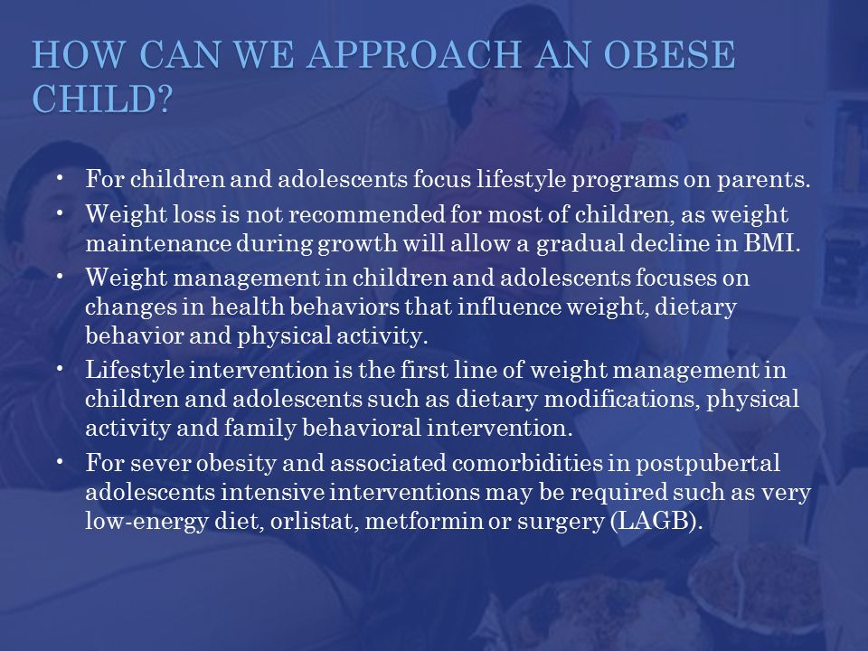 HOW CAN WE APPROACH AN OBESE CHILD.