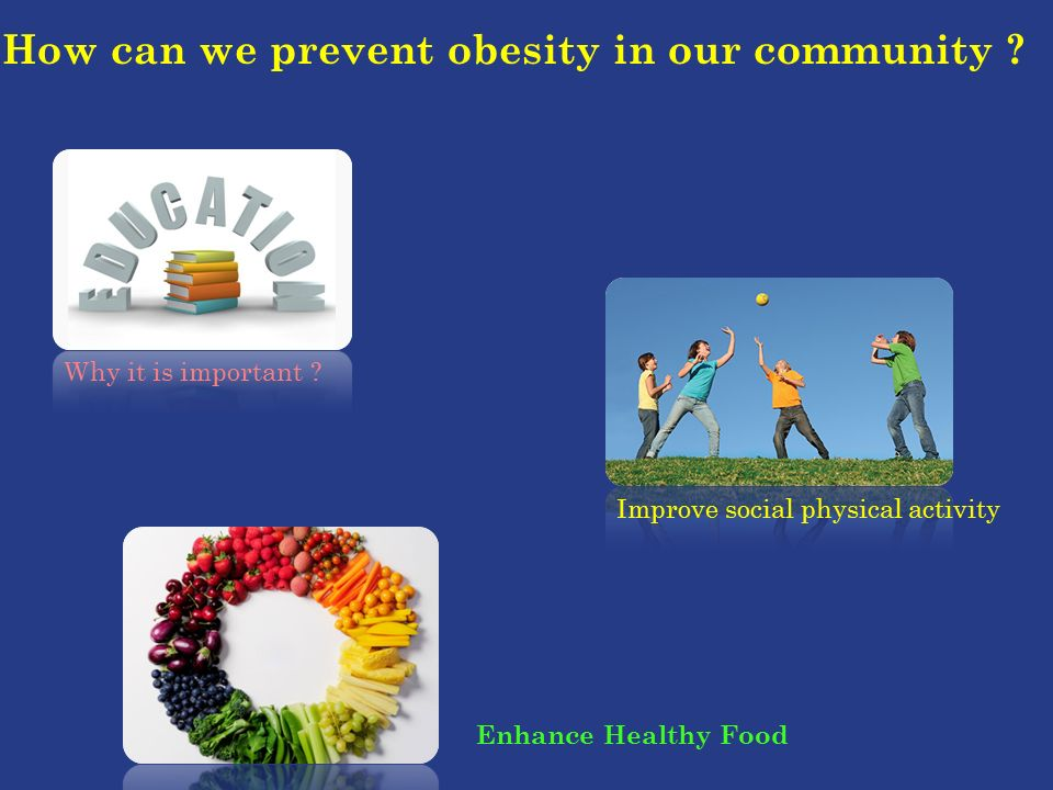How can we prevent obesity in our community .