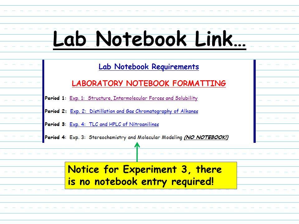 Organic Chemistry Laboratory Notebook Maintenance. - ppt download