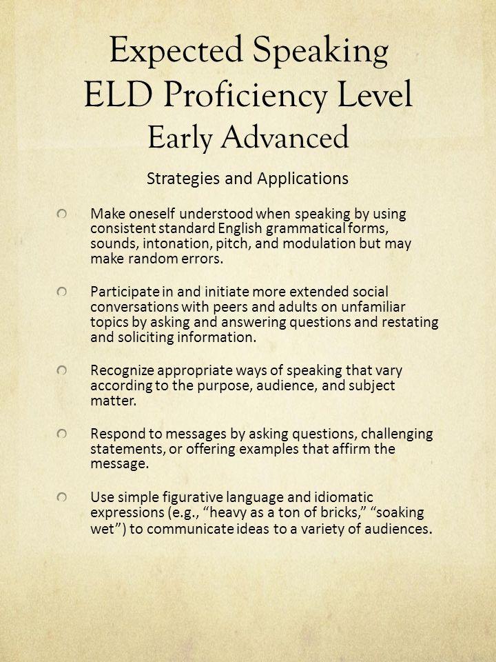 CELDT: Speaking Practice MVSD Grades K-1 Adapted from LAUSD CELDT ...