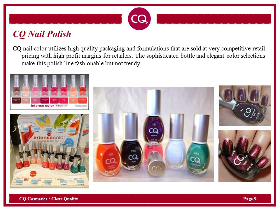 Cosmetics Clear Quality. Page 2 CQ Cosmetics / Clear Quality At-a ...