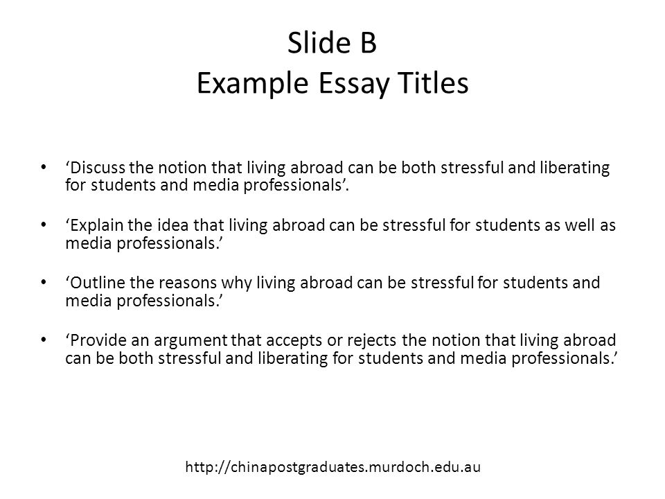 stressful living essay Essays on family a family essay and depending on each other for living their lives a family essay paper should emphasize on the importance of relations and the.