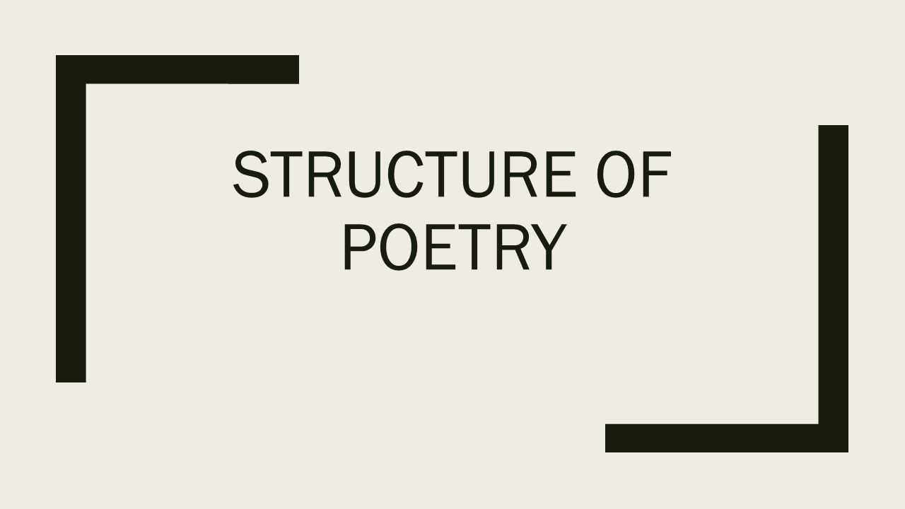 warm up what is poetic structure to you turn in ap essay ppt  2 structure of poetry