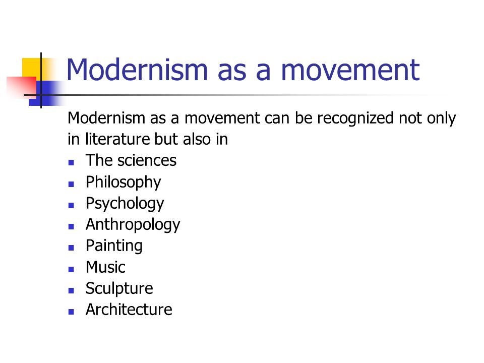 the modernism movement essay An overview of modernism and art essay print reference this disclaimer: this essay has been submitted by a at the head of social and cultural movement.