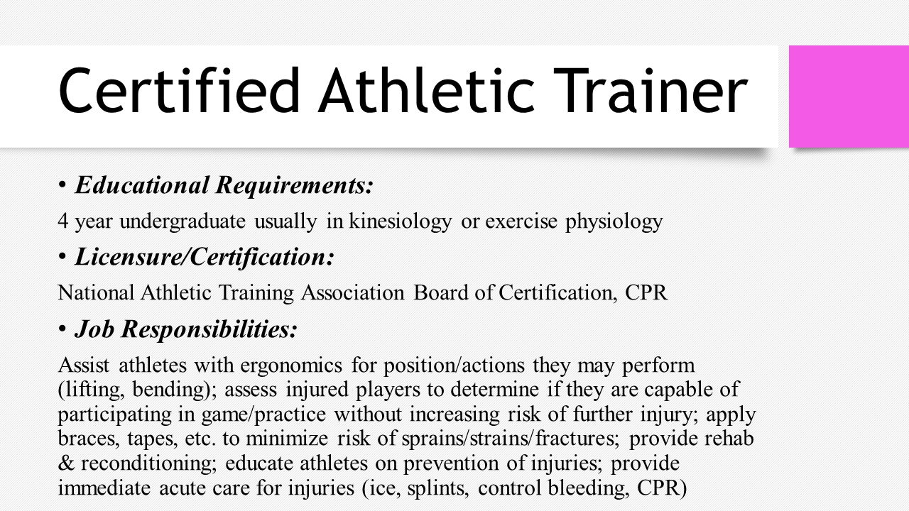 Sports medicine httpsyoutubewatchv2ssudwa rschttps 14 certified athletic trainer educational requirements 4 1betcityfo Choice Image