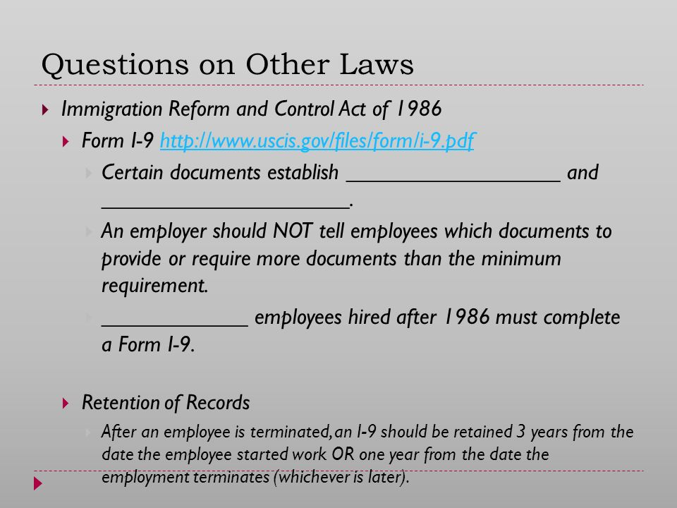 the immigration reform and control act of 1986 essay Houston-based chef and restaurant owner hugo ortega crossed into the united states from mexico without papers as a teenager in the early 1980s and was granted legal status through the 1986 immigration reform and control act.