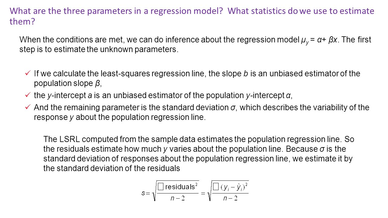 What Are The Three Parameters In A Regression Model