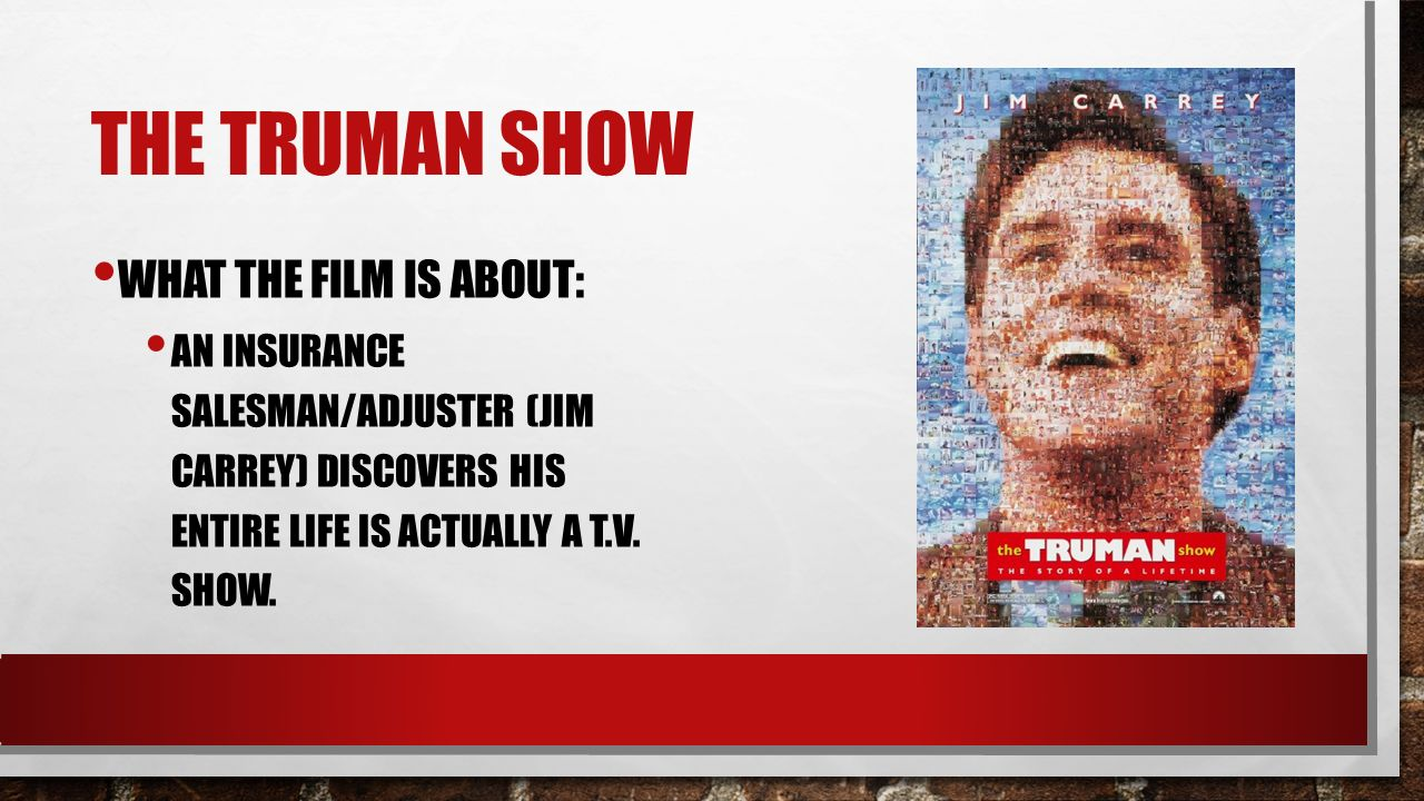 essays on the truman show themes The truman show essay the text explores themes which explore the idea that we are being essays/the-truman-show-402249html.