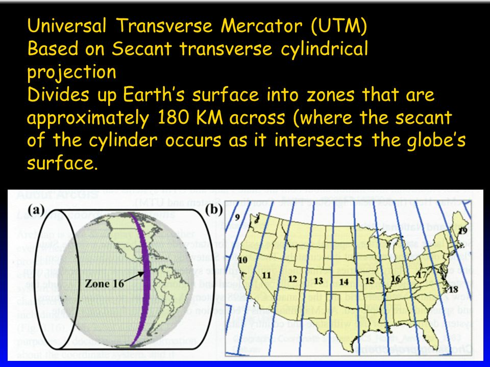 transverse mercator projection Unit 27 - map projections transverse mercator projection results from wrapping the cylinder around the poles rather than around the equator.