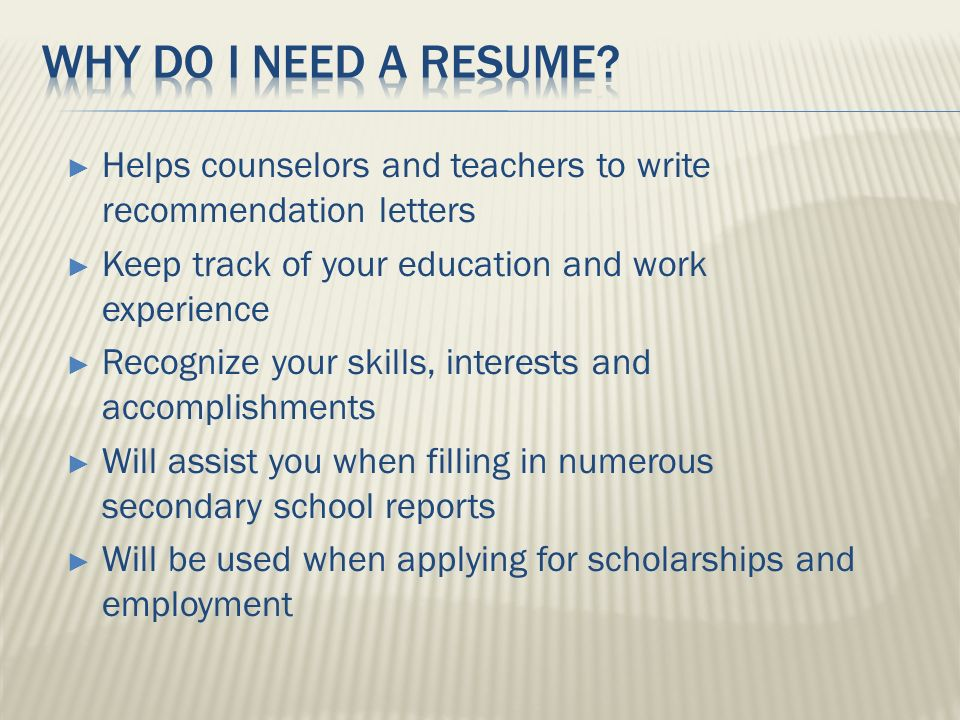 junior resume seminar rank in order of importance what you
