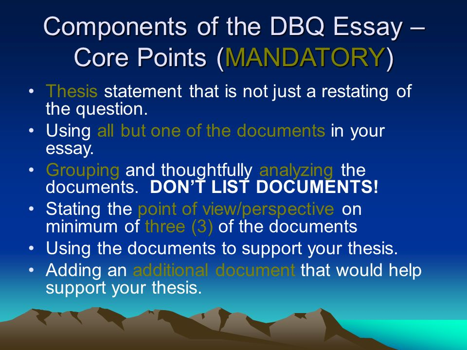 components of an essay paper