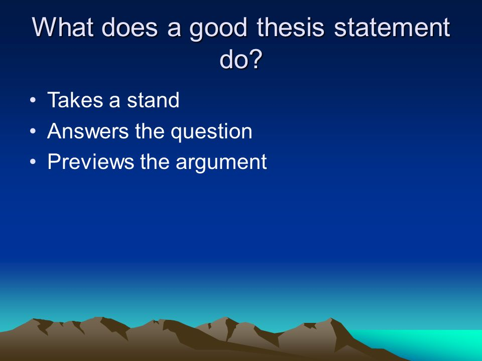 writing historical thesis statement