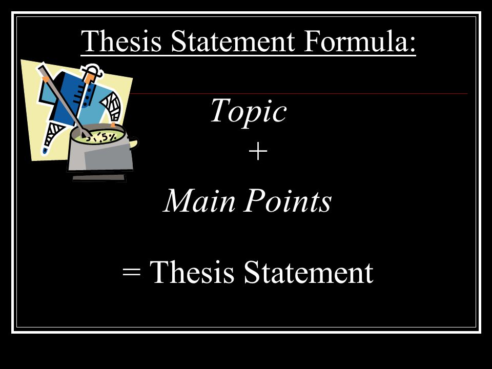 A Thesis Is____.