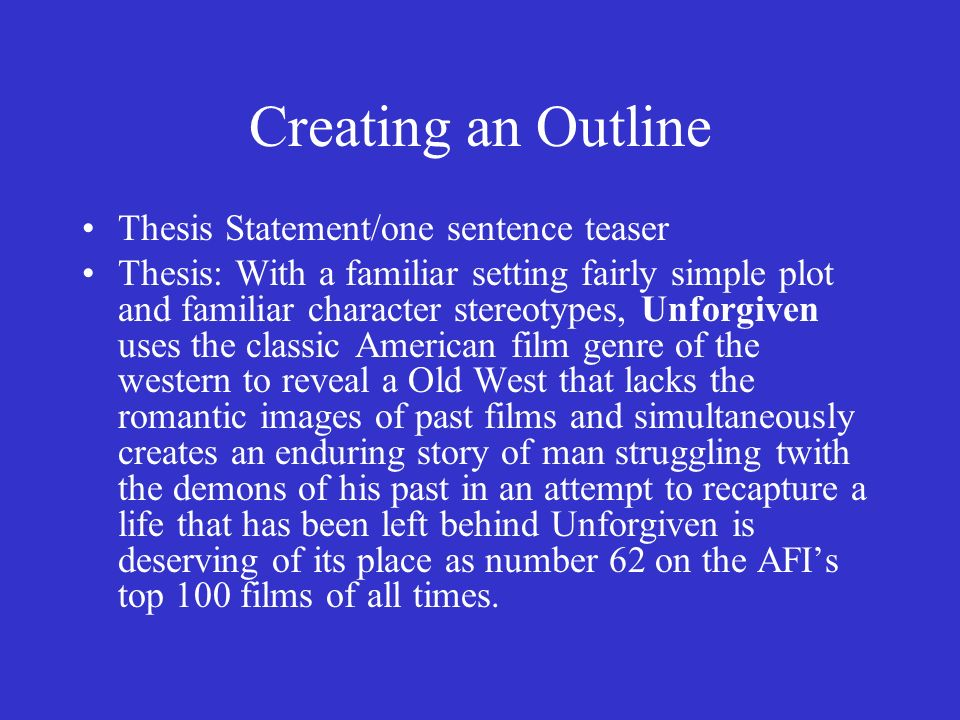 Top 7 Examples Of A Good Thesis Statement