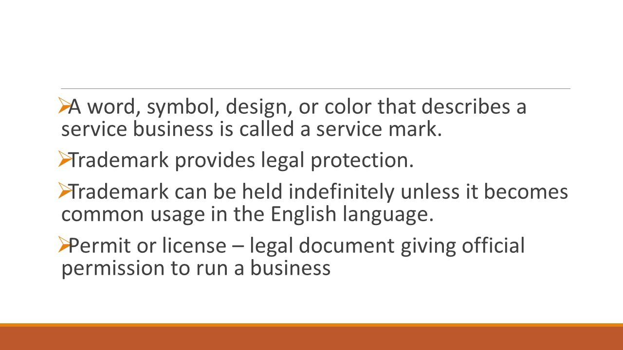 Entrepreneurship chapter 8 section 1 when you develop a new a word symbol design or color that describes a service business is biocorpaavc Images