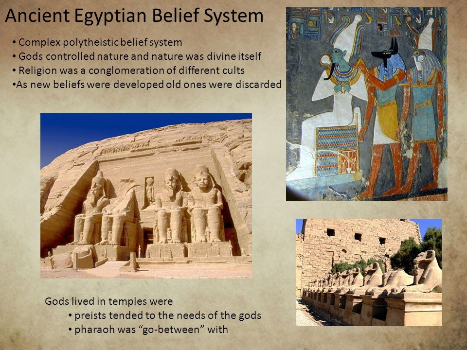religious beliefs of the egyptians essay Ancient egyptian religion was a complex system of polytheistic beliefs and rituals which were an integral part of ancient egyptian society it centered on.
