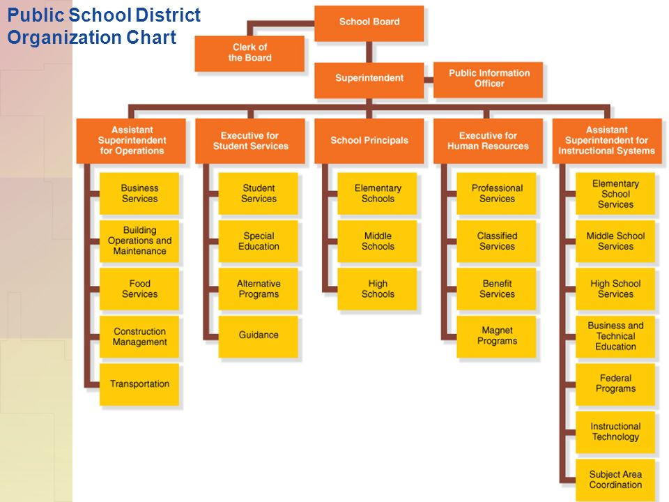 Public School District Organization Chart