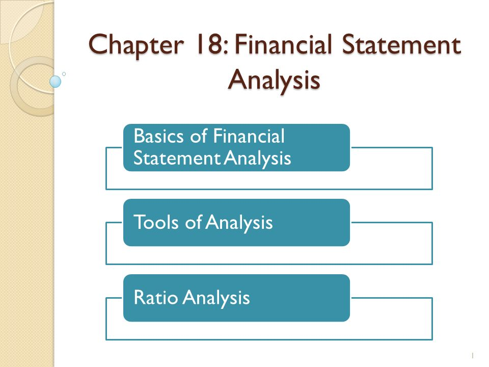 Chapter 18: Financial Statement Analysis Basics of Financial ...