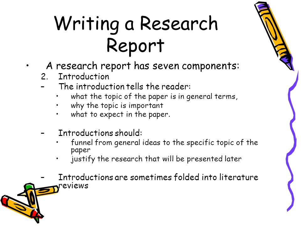 writing the research report