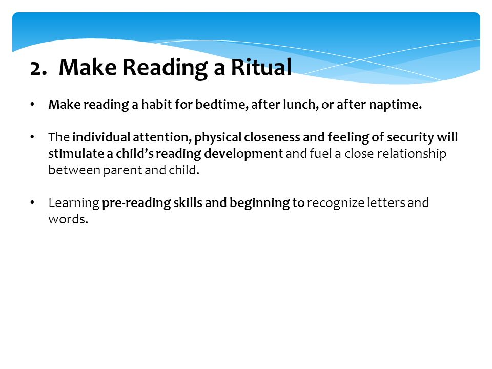 the relationship of reading habits and