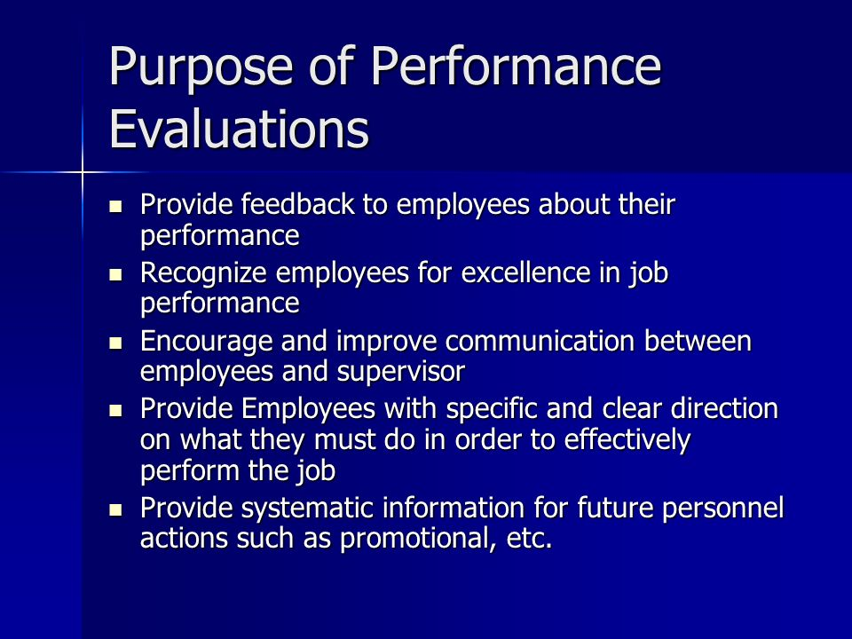 Performance Evaluation Policy Macon County Performance Appraisal